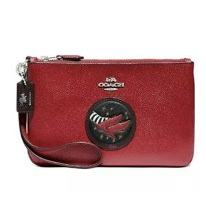 Coach Wizard Of Oz Leather Wristlet